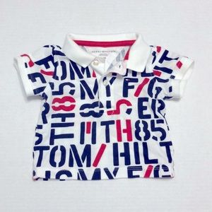 TOMMY HILFIGER All-over Print Short Sleeve Polo